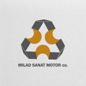 طراحی لوگو میلاد صنعت موتور